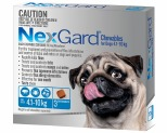 NEXGARD FOR DOGS 4.1-10KG 3 PACK (BLUE)