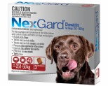 NEXGARD FOR DOGS 25.1-50KG 3 PACK (RED)