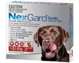 NEXGARD FOR DOGS 25.1-50KG 6 PACK (RED)