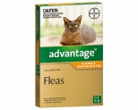 ADVANTAGE FOR CATS UP TO 4KG 1 PACK (ORANGE)