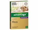 ADVANTAGE FOR CATS OVER 4KG 1 PACK (PURPLE)