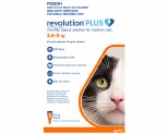 REVOLUTION PLUS FOR MEDIUM CATS 2.5-5KG 3 PACK (ORANGE)