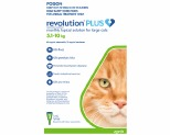 REVOLUTION PLUS FOR LARGE CATS 5-10KG 3 PACK (GREEN)