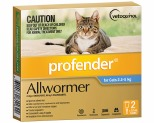 PROFENDER SPOT-ON FOR MEDIUM CATS 2.5-5KG 2 PACK (BLUE)