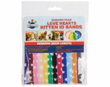 WAGGING TAILZ KITTEN ID BANDS NEWBORN HEART 12PK