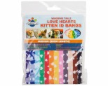 WAGGING TAILZ KITTEN ID BANDS MEDIUM HEART 12PK
