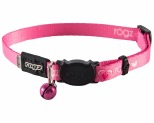 ROGZ KIDDYCAT SAFELOC COLLAR PINK HEARTS 11MM