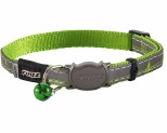 ROGZ NIGHTCAT SAFELOC COLLAR LIME SWALLOW 8MM
