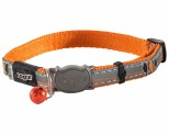 ROGZ NIGHTCAT SAFELOC COLLAR ORANGE BIRD 8MM