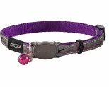 ROGZ NIGHTCAT SAFELOC COLLAR PURPLE BUDGIE 8MM