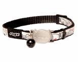 ROGZ REFLECTOCAT SAFELOC COLLAR BLACK CAT 8MM