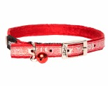 ROGZ SPARKLECAT PIN BUCKLE COLLAR RED 11MM
