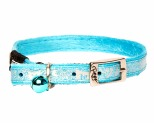 ROGZ SPARKLECAT PIN BUCKLE COLLAR TURQUOISE 8MM