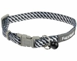 FUZZYARD TABBYTOOTH BLACK/WHITE CAT COLLAR