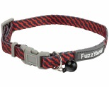 FUZZYARD TABBYTOOTH RED/NAVY CAT COLLAR