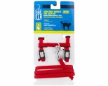 CATIT CAT HARNESS ADJUSTABLE AND LEAD MEDIUM RED