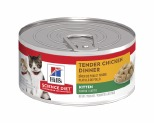 HILL'S SCIENCE DIET WET CAT FOOD TENDER CHICKEN DINNER KITTEN CAN 156G