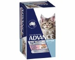 ADVANCE KITTEN 85G MULTIPACK CHICKEN AND SALMON MEDLEY (7)