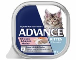 ADVANCE KITTEN CHICKEN & SALMON MEDLEY 85G