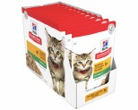 HILL'S SCIENCE DIET WET CAT FOOD CHICKEN KITTEN POUCHES 12X85G