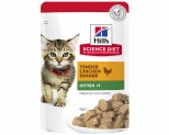 HILL'S SCIENCE DIET KITTEN WET CAT FOOD CHICKEN RECIPE POUCH 85G