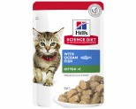 HILL'S SCIENCE DIET WET CAT FOOD OCEAN FISH KITTEN POUCH 85G