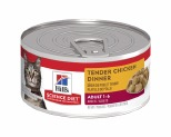 HILL'S SCIENCE DIET WET CAT FOOD TENDER DINNER CHICKEN ADULT CAN 156G