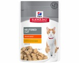 HILL'S SCIENCE DIET NEUTERED CAT WET CAT FOOD CHICKEN YOUNG ADULT 85G