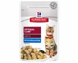 HILL'S SCIENCE DIET WET CAT FOOD OCEAN FISH ADULT POUCH 85G