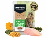 BLACK HAWK GRAIN FREE ADULT CHICKEN WITH PEAS WET CAT FOOD POUCH 85G