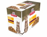 HILL'S SCIENCE DIET URINARY HAIRBALL CONTROL WET CAT FOOD CHICKEN ADULT POUCHES 12X85G