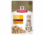 HILL'S SCIENCE DIET URINARY HAIRBALL CONTROL WET CAT FOOD CHICKEN ADULT POUCH 85G