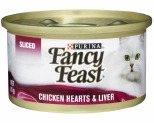 FANCY FEAST SLICED CHICKEN HEARTS AND LIVER 85G