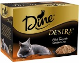 DINE DESIRE 85G MULTIPACK FLAKE TUNA AND CRAB MEAT (6)