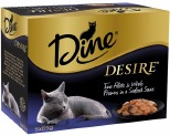 DINE DESIRE 85G MULTIPACK TUNA FILLETS & PRAWNS IN SEAFOOD SAUCE (6)