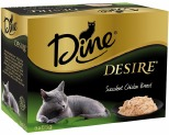 DINE DESIRE 85G MULTI PACK SUCCULENT CHICKEN BREAST (6)