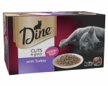 DINE MULTI PACK WITH TURKEY IN GRAVY 85G (7)