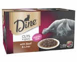 DINE MULTI PACK WITH BEEF & LIVER IN GRAVY 85G (7)