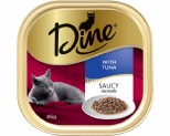 DINE 85G SAUCY MORSELS WITH TUNA