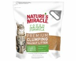NATURES MIRACLE PREMIUM WALNUT CLUMPING CAT LITTER 4.5KG