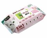 KIT CAT ANTI BACTERIAL WIPES FOR CATS - ALOE VERA 80 SHEETS