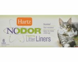 HARTZ NODOR LITTER BOX LINERS 6 PACK