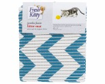 FRESH KITTY BLUE CHEVRON FOAM JUMBO LITTER MAT*+