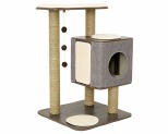 LULU'S WORLD CUBOX BASE CAT SCRATCHER GREY