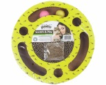PAWISE ROUND SCRATCH AND PLAY CARDBOARD CAT SCRATCHER**