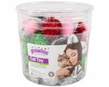 PAWISE CAT TOY POMPOM BALLS 72PC
