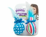 PAWISE BALL AND FEATHER CAT TOY