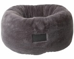 LA DOGGIE VITA DONUT PLUSH CAT BED GREY