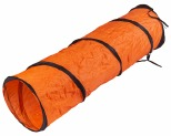 JACKSON GALAXY CAT CRAWL SOLID TUNNEL GREEN AND ORANGE*+