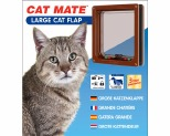 CAT MATE 4WAY LOCKING PET DOOR LARGE - BROWN*+